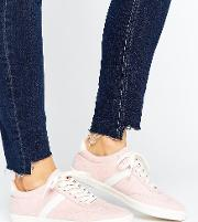Delphine Stripe Lace Up Trainers