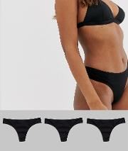 3 Pack Cotton Rich Jersey Thongs