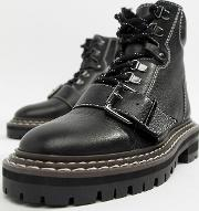 Archie Premium Leather Chunky Hiker Ankle Boots