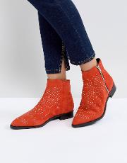Auto Pilot Suede Studded Ankle Boots
