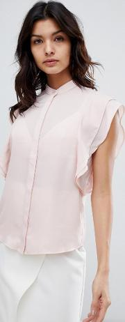 Blouse With Frill Shoulder