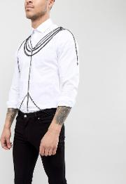 design body harness in black with crosses