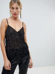 Cami Top With Sequin Embellishment