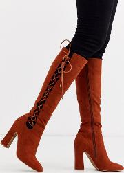 Cecily High Heeled Knee Boot