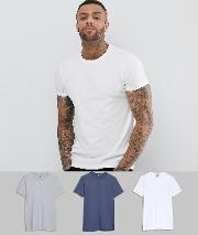 crew neck t shirt 3 pack save