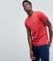 crew neck t shirt in red