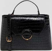 Croc City Bag With Ring Ball Detail