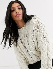 Curve Lofty Knit Cable Jumper