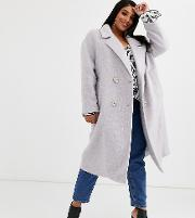 Curve Statement Coat With Hero Buttons