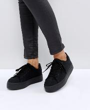 Day Light Chunky Flatform Lace Up Trainers