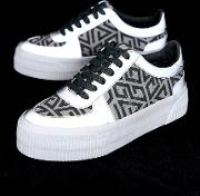 Depart Chunky Flatform Lace Up Trainers And Reflective