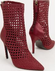 Edel Woven Satin Boots