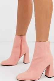 Ending Heeled Ankle Boots Apricot