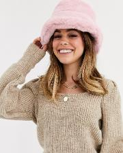 Faux Fur Bucket Hat