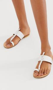 Fellowship Studded Leather Toe Loop Mules