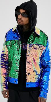 Festival Western Jacket With Cut And Sew Sequins