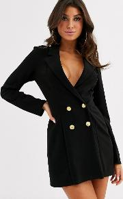 Glam Double Breasted Jersey Blazer