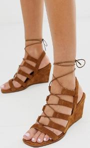 Hansel Suede Mid Heeled Wedges