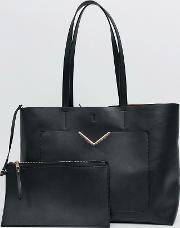 Hardware Pocket Shopper With Removable Clutch Bag