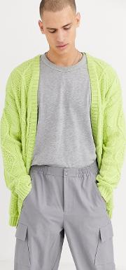 Heavyweight Cable Knit Cardigan