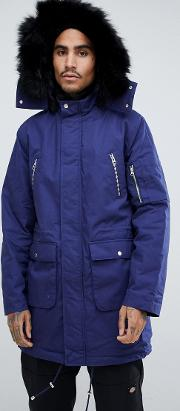 Heavyweight Parka With Faux Fur Lining