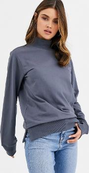 High Neck Lightweight Sweatshirt