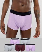 design hipsters in purple & grey 5 pack save