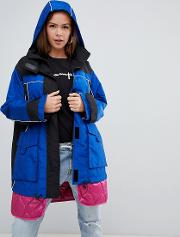Hybrid Parka With Quilted Liner