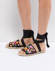 Jac Embroidery Espadrille Sandals