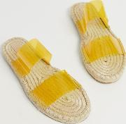 Jetty Clear Espadrille Mules