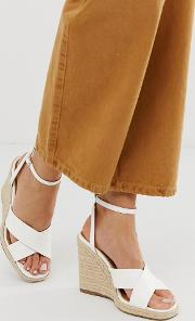 Jones Square Toe Wedge Espadrilles
