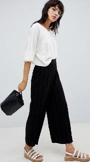 Knitted Culottes With Deep Rib