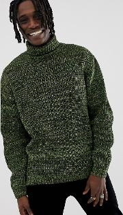 Knitted Oversized Rib Jumper