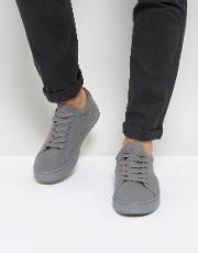 Lace Up Trainers Real Suede