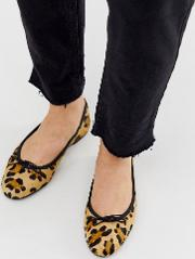 Lenor Leather Bow Ballet Flats