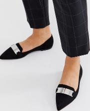 Leonie Pointed Loafer Ballet Flats