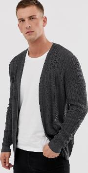 Lightweight Cable Cardigan