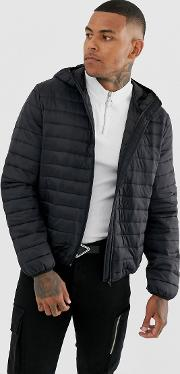 Liner Puffer Jacket With Hood