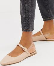 Littleton Clear Square Toe Ballet Flats