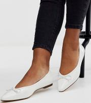 Locked Pointed Ballet Flats