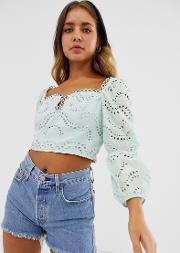 Long Sleeve Square Neck Top