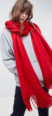 long tassel scarf in supersoft knit