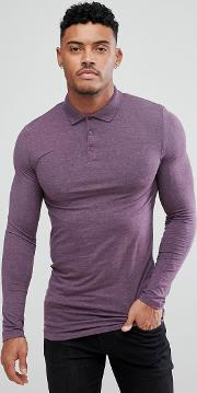 Longline Muscle Fit Sleeve Jersey Polo