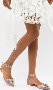 love struck bridal ballet flats
