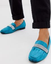 Manage Loafer Flat Shoes With Embelishment