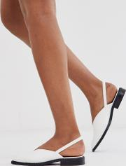 Mapping Slingback Flat Shoes