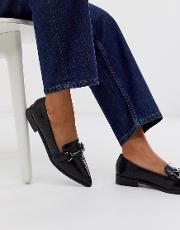Master Snaffle Pointed Flat Shoes