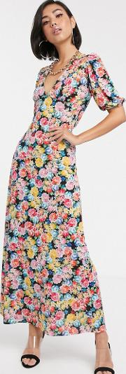 Maxi Tea Dress With Strappy Back