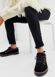 Mazing Suede Hiker Flat Shoes