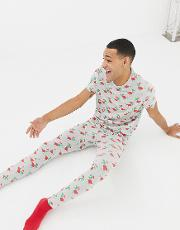 Meggings Christmas Dinosaur Print